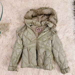 champagne juicy puffer jacket